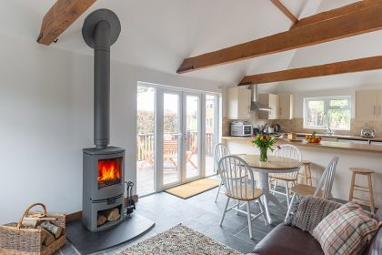 Interior Photography - Kent Holiday cottage - Wood burner