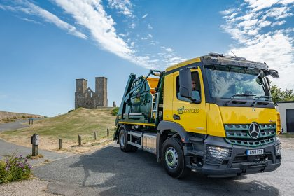 Photography - Skip Lorry - Thanet Waste Services - Reculver, Kent